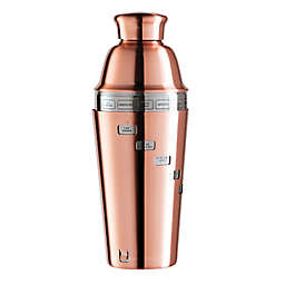 Oggi™ Copper Plated Dial A Drink™ Cocktail Shaker