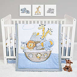 Sammy & Lou Noah's Ark 4-Piece Crib Bedding Set in Blue/Grey