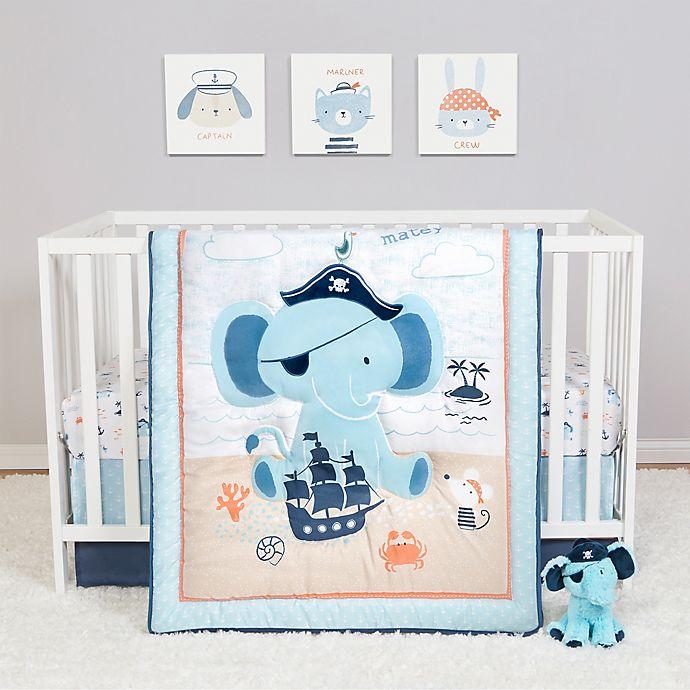 Alternate image 1 for Sammy & Lou Ahoy Archie 4-Piece Crib Bedding Set in White/Blue