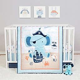 Sammy & Lou Ahoy Archie 4-Piece Crib Bedding Set in White/Blue