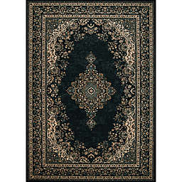 Couristan® Old World Classics Antique Kerman Area Rug in Black