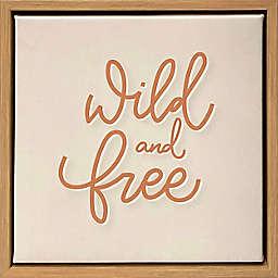 "Wild Sage™ ""Wild and Free"" Decorative Framed Canvas"