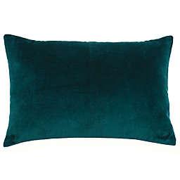 kate spade new york Cat In Garden Velvet Linen Oblong Throw Pillow in Green