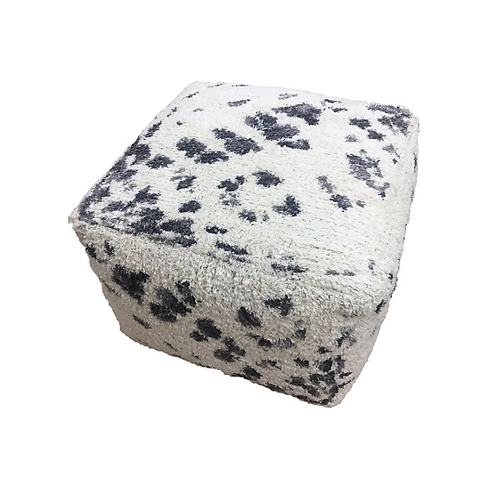 Alternate image 1 for Wild Sage™ Riley Tie Dye Pouf in Black/White