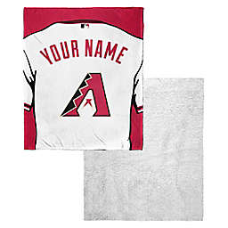 MLB Personalized Silk Touch Sherpa Throw Blanket Collection
