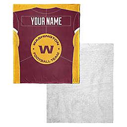 NFL Washington Football Team Personalized Silk Touch Sherpa Throw Blanket