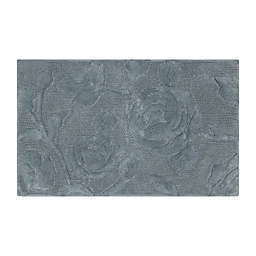 Bee & Willow™ 34'' x 21'' Faded Floral Bath Rug in Grey