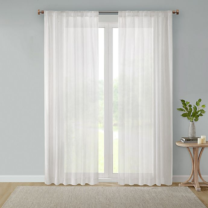 Alternate image 1 for Bee & Willow™ Home Sheer Multi-Stripe Window Curtain Panel in Linen (Single)