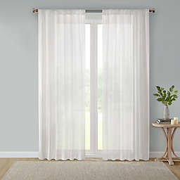 Bee & Willow™ Home Sheer Multi-Stripe Window Curtain Panel in Linen