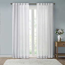 Bee & Willow™ Home Eyelet Stripe Sheer Rod Pocket with Back Tab Window Curtain Panel