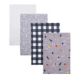 Trend Lab® 4-Pack Outer Space Deluxe Flannel Receiving Blankets