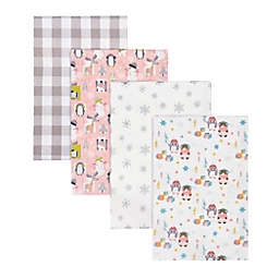Trend Lab® 4-Pack Igloo Pals Deluxe Flannel Receiving Blankets
