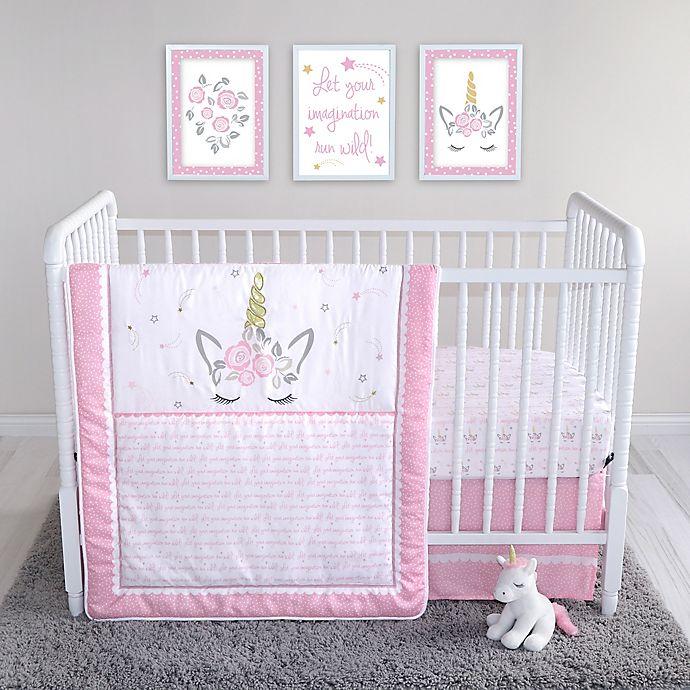 Alternate image 1 for Sammy & Lou 4-Piece Mystical Dreams Crib Bedding Set in Pink/Grey