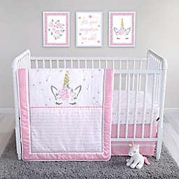 Sammy & Lou 4-Piece Mystical Dreams Crib Bedding Set in Pink/Grey