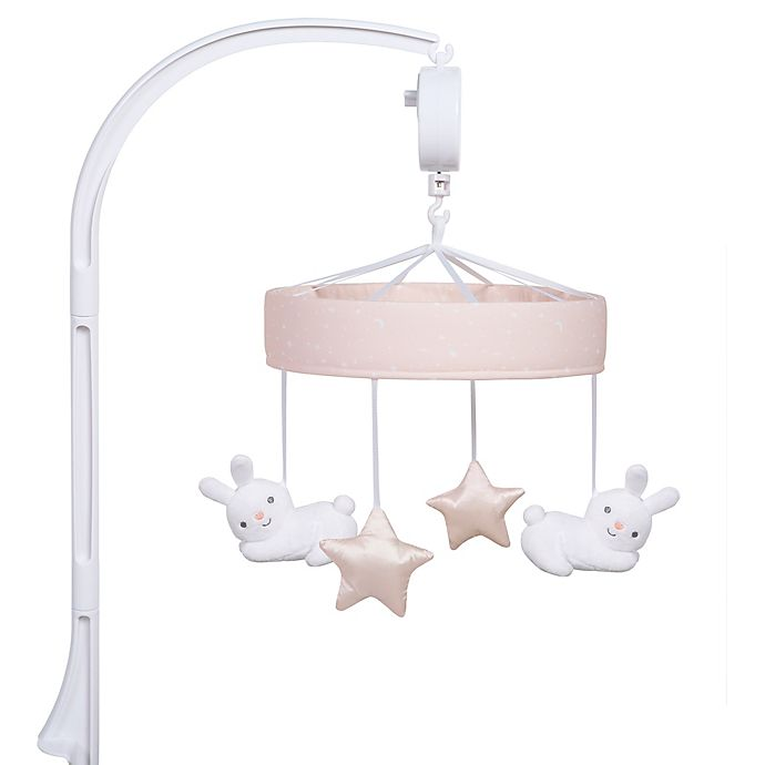 Alternate image 1 for Sammy & Lou Cottontail Cloud Musical Crib Mobile in Pink/White