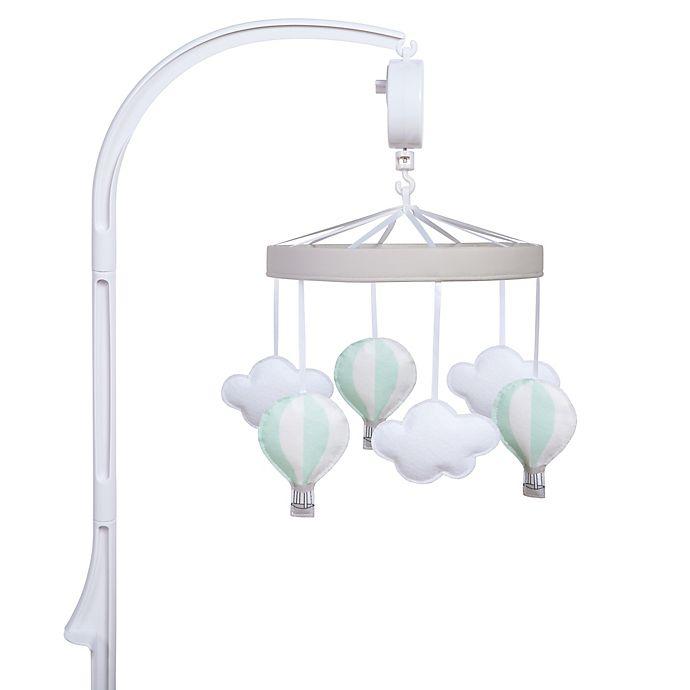 Alternate image 1 for Sammy & Lou Hot Air Balloon Musical Crib Mobile in Light Grey