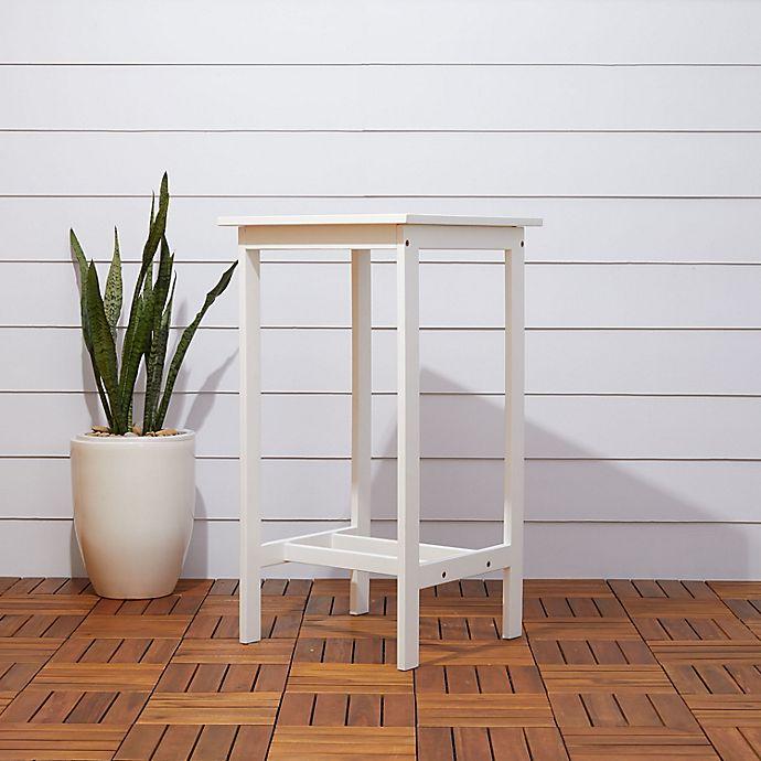 Alternate image 1 for Vifah Bradley Patio Bar Table in White