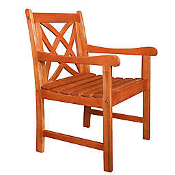 Vifah Malibu Outdoor Slatted Armchair in Brown