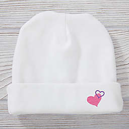 Look Who Loves Me Hearts Knit Hat