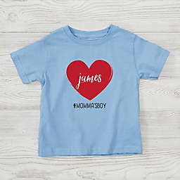 Scripty Heart Size 2T-4T Personalized V-Day T-Shirt