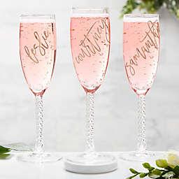 Rosé Champagne Flute
