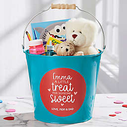 A Little Treat for Someone Sweet Personalized Large Bucket