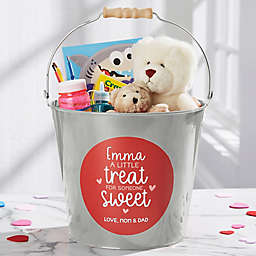 A Little Treat for Someone Sweet Personalized Large Bucket in Silver