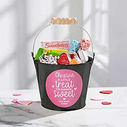 A Little Treat for Someone Sweet Metal Mini Bucket in Black