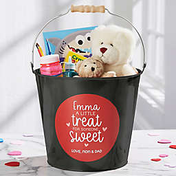 A Little Treat for Someone Sweet Personalized Large Bucket in Black