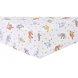 Trend Lab® Slothing Around Flannel Fitted Crib Sheet in Red