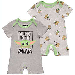 Disney® 2-Pack Baby Yoda Rompers