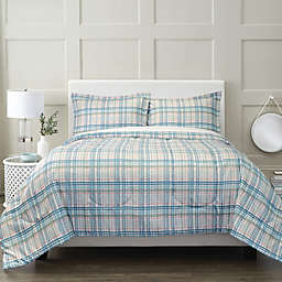 Springs Home™ Plaid 3-Piece Comforter Set in Green