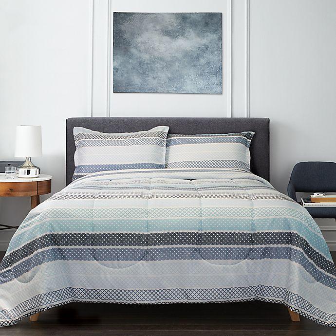 Alternate image 1 for Springs Home™ Lattice 3-Piece Comforter Set in Blue