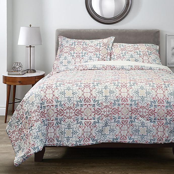 Alternate image 1 for Springs Home™ Damask 3-Piece Comforter Set in Navy