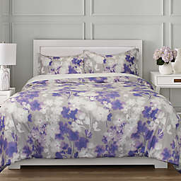 Springs Home™ Flowers 3-Piece Full/Queen Duvet Cover Set in Grey