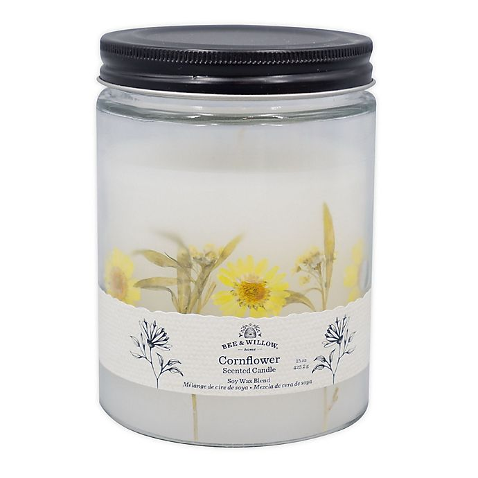 Alternate image 1 for Bee & Willow™ Cornflower 15 oz. Spring Floral Glass Jar Candle