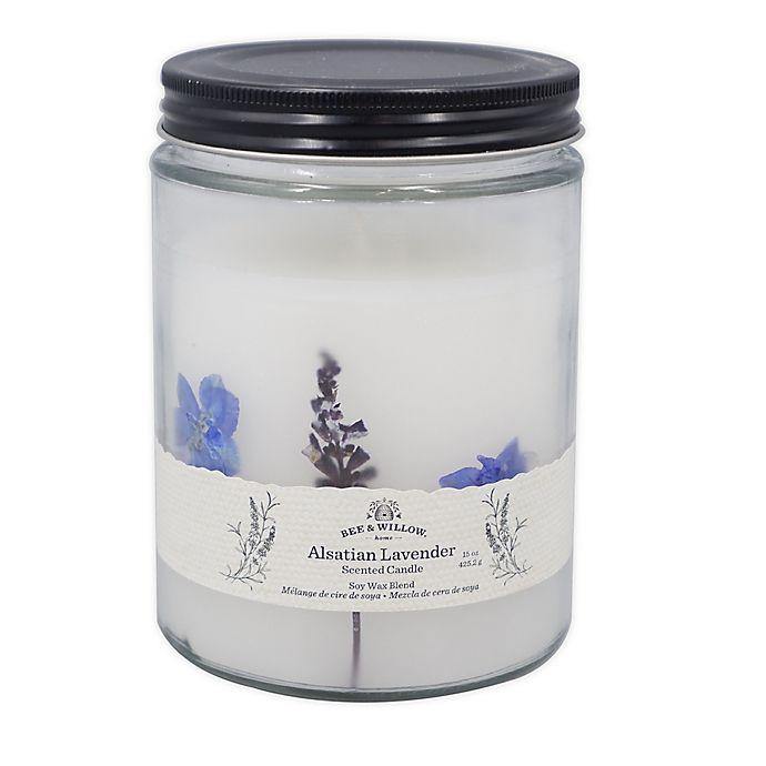 Alternate image 1 for Bee & Willow™ Alsatian Lavender 15 oz. Spring Floral Glass Jar Candle