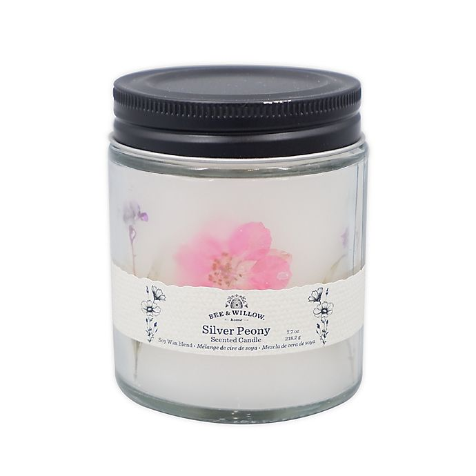 Alternate image 1 for Bee & Willow™ Silver Peony 7.7 oz. Spring Floral Glass Jar Candle