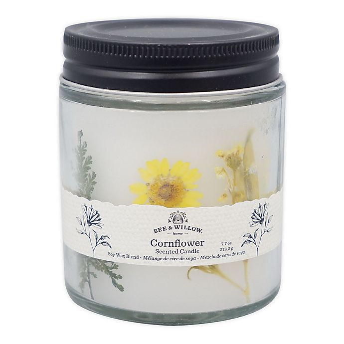 Alternate image 1 for Bee & Willow™ Cornflower 7.7 oz. Spring Floral Glass Jar Candle