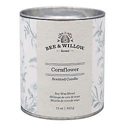 Bee & Willow™ Home Cornflower 11 oz. Tin Candle with Floral Design
