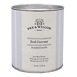 Bee & Willow™ Home Red Currant 11 oz. Tin Candle with Grey Linen Design
