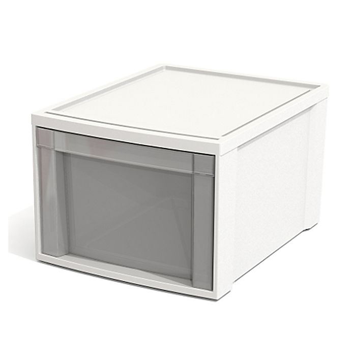 Alternate image 1 for Simply Essential™ Large Stacking Drawer in White