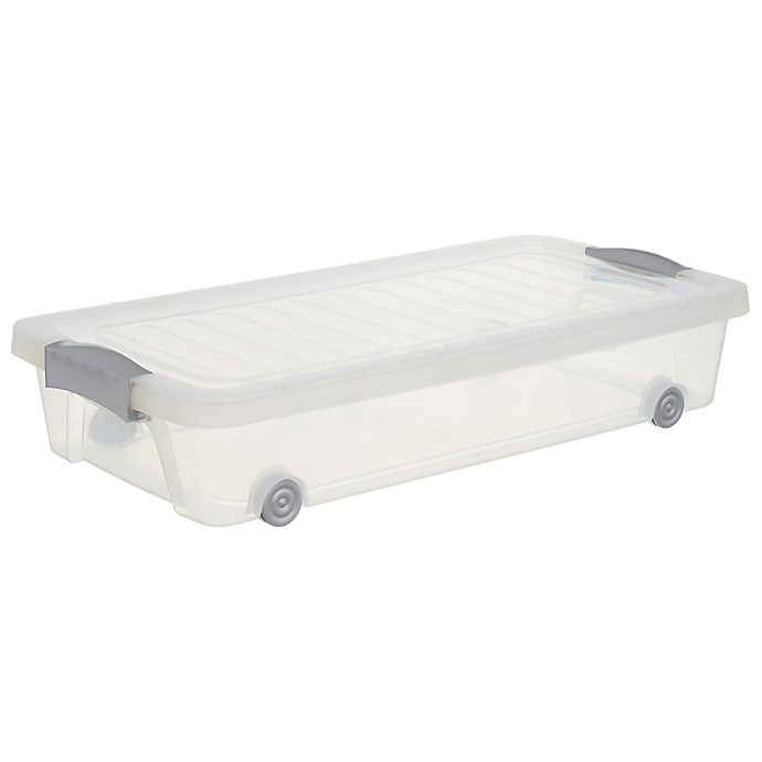 Alternate image 1 for Simply Essential™ 33 qt. Underbed Rolling Storage Box