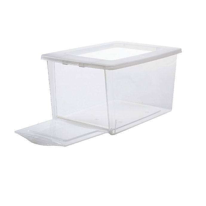 Alternate image 1 for Simply Essential™ Drop-Front Storage Shoe Boxes (Set of 4)