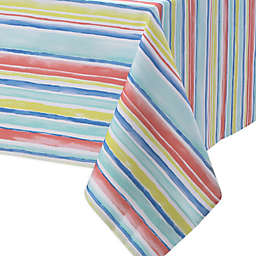 Watercolor Stripe Indoor/Outdoor Tablecloth Collection