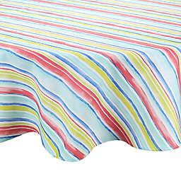 Watercolor Stripe Round Indoor/Outdoor Tablecloth