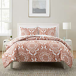 VCNY Home Cranity 7-Piece Full/Queen Comforter Set in Red/White
