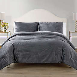 Elegant Estates Sadie Crinkle Velvet 3-Piece Comforter Set