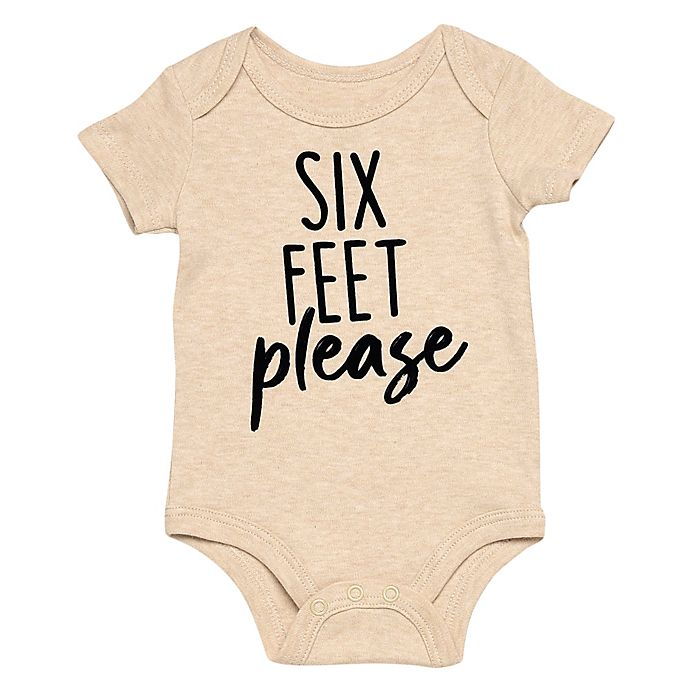 Alternate image 1 for Baby Starters® BWA® Newborn Six Feet Please Bodysuit in Ivory