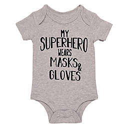 Baby Starters® BWA® Size 3M Superhero Short Sleeve Bodysuit in Grey